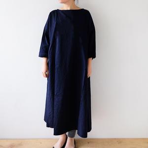 indigo wide one piece dressB/Lady's