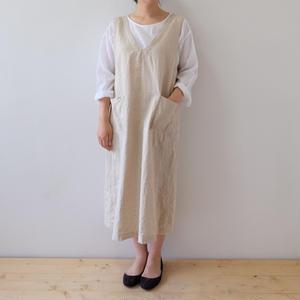 linen/cotton one piece dress(ジャンパースカート)