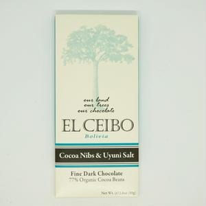 EL CEIBO Bolivia  カカオニブ&ウユニ塩湖産ソルトチョコレート 80g