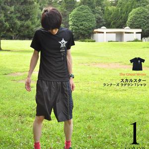 tgw017spt - スカルスター ランナーズ ラグラン Tシャツ -G- ロックTシャツ ドクロ ブラック 黒系 PUNK