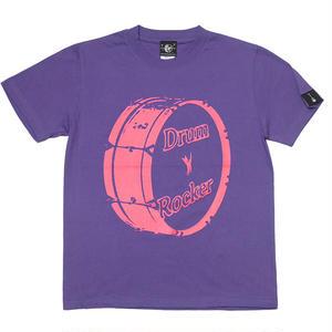 sp030tee-pu - Drum Rocker 1(ドラムロッカー) Tシャツ (V.パープル)-G- 半袖 ロック ロックンロール バンドTee 紫色