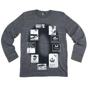 tgw023-tlt - Gleam 0(ゼロ) ネオビンテージ ロングスリーブTシャツ -G-( 長袖Tシャツ ロンT ロック パンク グレー )