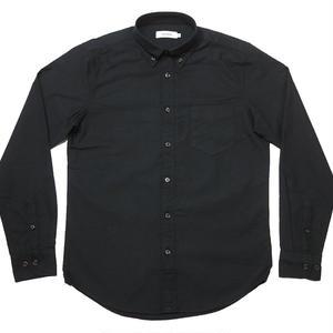 sh75201s-bk01 - オックスフォード BDシャツ (ブラック)-VINTAGE EL-G- 長袖 OX ボタンダウン Yシャツ 定番 黒
