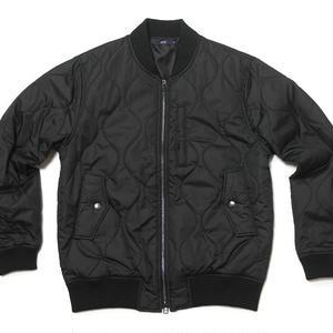 ウェーブキルティング MA1ブルゾン ( ブラック ) - ts51694-bk -G- 防寒 アウター アメカジ ストリート 黒色