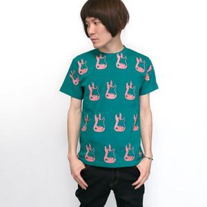 sp077tee - G-Pattern(ギター柄) Tシャツ -G-( ROCK ロック ギターTシャツ 総柄 オリジナルTシャツ )