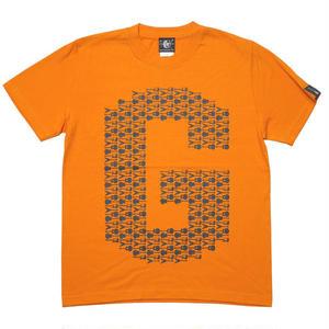 2weekセール!! sp037tee-or - ギターのG Tシャツ (オレンジ)-G- 半袖 ロゴT ギター柄 Guitar ロックTシャツ バンドTシャツ