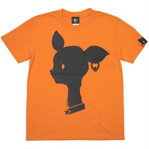 sp080tee-or - Bambi Mark Tシャツ (オレンジ)-G- バンビ ばんび 子鹿 ロゴマーク かわいい 橙色 半袖