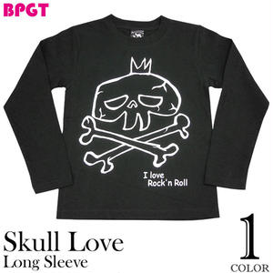 sp033lt - I love Rock'n Roll(スカルLOVE)ロングスリーブTシャツ - BPGT -G-( ロンT ロック ドクロ バンド 長袖 カットソー )