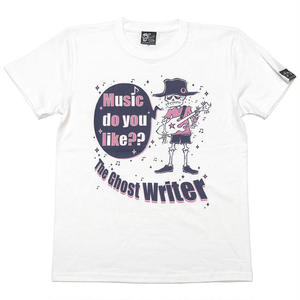 tgw002tee-wh - Music do you like?? Tシャツ (ホワイト)-G- スカルTシャツ ドクロ ロック オリジナル イラスト メンズ レディー 白 半袖