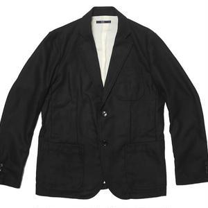 ts21674-bk - ブリティッシュ ジャケット ( ブラック ) -TESS- JKT 2ツ釦 カジュアル きれい目 黒色 無地 秋冬