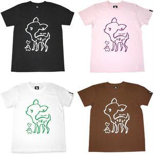 sp017tee - my girl Tシャツ- BPGT -G- バンビ 子鹿  イラスト 半袖 メンズ レディース かわいい