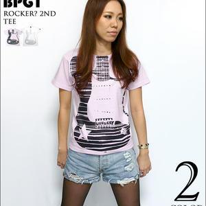 2weekセール☆ bk003tee - Rocker? 2nd Tシャツ - BPGT -G-( ロッカー ロックTシャツ バンドT ギター柄 半袖 )