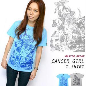 bg012tee - 蟹座 ガール( Cancer Girl )Tシャツ -G-( かに座 ギリシア神話 星座 神話 コラボT )