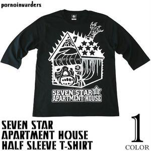 pi005hst - セブンスターマンション ハーフスリーブ Tシャツ - pornoinvarders -G-( モンスター パンク ロック ハードコア コラボ 5分袖 )
