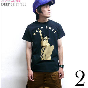 tgw007tee - Deep Shit Tシャツ - The Ghost Writer -G-( PUNK ROCK 自由の女神 パンク ロック USA アメリカ )