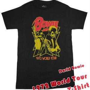 db-wt72-bk - 1972 World Tour Tシャツ ( David Bowie デヴィッド ボウイ )-IMPACT-G-- Rock グラムロック メンズ レディース 半袖