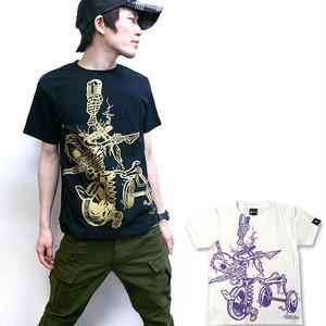 pi003tee - チャイルドウエポン(サンリンシャ)Tシャツ - pornoinvarders -G- 骸骨 スカル パンク ロック コラボ 半袖 -