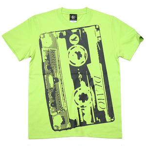 bk001tee-lm - Demo Tape(デモテープ)Tシャツ (ライムグリーン)-G- カセットテープ ロック バンド 音楽 半袖