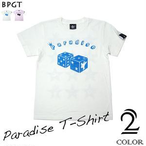 sp041tee - Paradise (パラダイス) Tシャツ - BPGT -G-(サイコロ ダイス 賽子 ロゴ オリジナルTシャツ 半袖Tee )