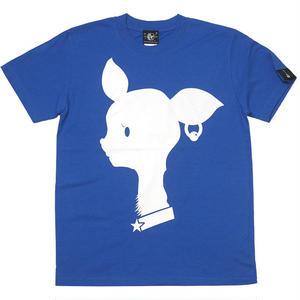 sp080tee-rb - Bambi Mark Tシャツ (ロイヤルブルー)-G- バンビ ばんび 子鹿 ロゴマーク 可愛い 青色 半袖