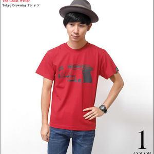 tgw004tee-rd - Tokyo Drowning Tシャツ ( レッド )-G- 半袖 パンクロックTシャツ バックプリント 赤色 Tシャツ屋さんバンビ