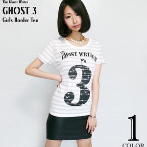 tgw015bgt - GHOST 3 ガールズ ボーダーTシャツ -G- ロック パンク ロゴ 有刺鉄線 カットソー レディース 半袖