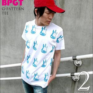 2weekセール!! sp077tee - G-Pattern(ギター柄) Tシャツ -G- ROCK ロック ギターTシャツ 総柄 オリジナルTシャツ
