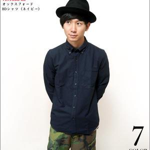 sh75201s-ny71 - オックスフォード BDシャツ (ネイビー)-VINTAGE EL-G- 長袖 OX ボタンダウン Yシャツ 綺麗目 紺色