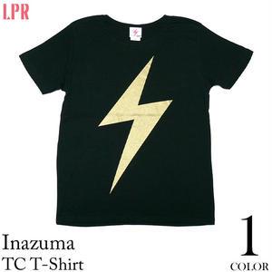 a01tc - イナズマ TC Tシャツ - LPR -G-( パンク ロック 稲妻 雷マーク ライジング ブラック 黒色 )