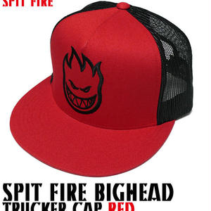sq1036-rd - SPIT FIRE BIGHEAD TRUCKER CAP(レッド)-G-( スピットファイヤー スナップバック キャップ ロゴ 帽子 )