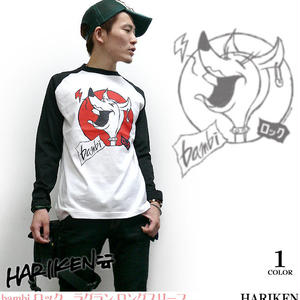 har001rg - bambi ロック ラグラン ロングスリーブ - HARIKEN ハリケン -G-( パンク ロック 子鹿 バンビ ロンT 長袖 )