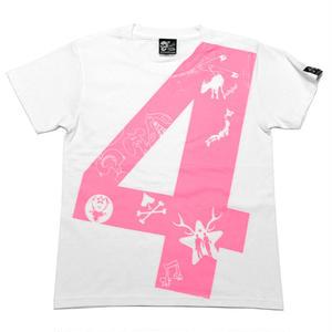 tgw024tee-wh - fateful 4 Tシャツ(ホワイト) - The Ghost Writer -G- 半袖 白色 PUNK ROCK パンクロックTシャツ ナンバー4