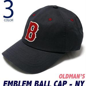 old-2425-ny - エンブレム ボール キャップ(ネイビー) - OLDMAN'S -G-( CAP ベースボールキャップ アメカジ 野球帽 帽子 )