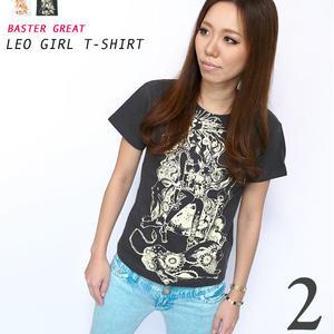 予約販売中☆ bg020tee - 獅子座ガール(Leo Girl)Tシャツ - baster great -G-( しし座 ライオン 神話 星占 コラボTee )