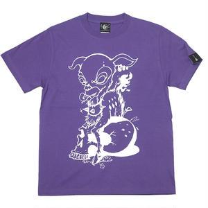 sp002tee-pu - コアバンビ Tシャツ (V.パープル)-G- ロックTシャツ スカル モンスター 半袖 紫色