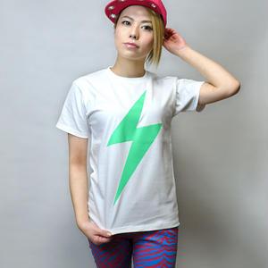 冬セール☆ a01tee - イナズマ Tシャツ - LPR -G-( パンクT ロックT 稲妻 ネオンカラー 蛍光 )