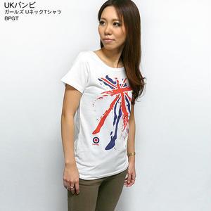 ☆特別プライス☆ sp008-gu - UKバンビ ガールズ UネックTシャツ -BPGT -G- ROCK ロック PUNK パンク オリジナル レディース 半袖