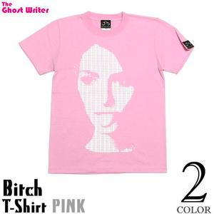 tgw006tee - Bitch ( ビッチ ) Tシャツ (ピンク) -G-( パンク PUNK グラフィック デザイン フォトTシャツ 半袖 )
