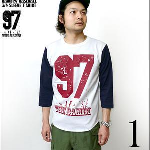 sp055bbt - bambi97 3/4スリーブ ベースボールTシャツ - BPGT -G- ロック バンビ ロゴマーク アメカジ 7分袖