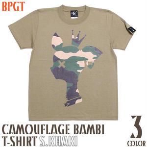 sp088tee-sk - 迷彩 バンビ Tシャツ ( サンドカーキ ) - BPGT -G-( カモフラージュ bambi こじか 子鹿 メッセージTシャツ )