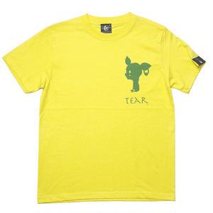 sp065tee-ye - 涙目バンビ(TEAR) Tシャツ (イエロー)-G- 半袖 ワンポイント ロゴマーク BAMBI 子鹿 こじか 黄色