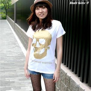 ☆特別プライス☆ tgw013gu - スカル ガールズ UネックTシャツ - BPGT -G-( ロック SKULL ドクロ 髑髏 ROCK 半袖 )