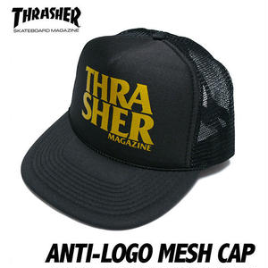 sq8476 - ANTI-LOGO アンチロゴ メッシュ キャップ - THRASHER - スラッシャー -G-( ANTI HERO スケーター エクストリーム 帽子 CAP )