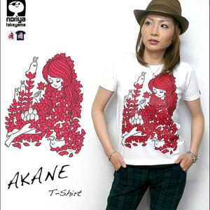 nr002tee - AKANE(アカネ)Tシャツ - タケヤマ・ノリヤ -G-( 世界のメルヘン 妖精 アニマル 茜色 ポップ かわいい )