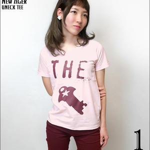 sp083ut - New Ager UネックTシャツ -G- 半袖 綿 ロック バンド オリジナル プリント ピンク