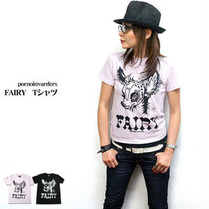 pi001tee - FAIRY Tシャツ - pornoinvarders -G- パンク ロック ROCK PUNK BAMBI バンビ オリジナル- 半袖 -