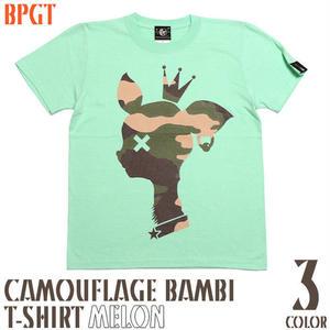 sp088tee-me - 迷彩 バンビ Tシャツ ( メロン ) - BPGT -G-( カモフラージュ かわいい bambi こじか 子鹿 メッセージ )
