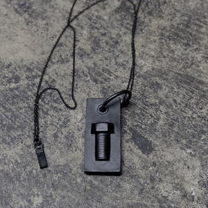 IMPLANT BOLT NECKLACE