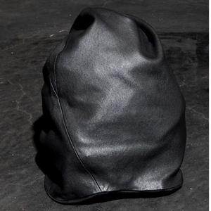 STRETCH LEATHER KNIT CAP / TALL