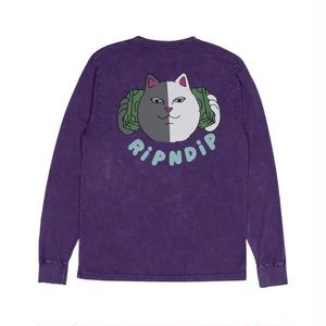 RIPNDIP |  Money Talks L/S (Purple Mineral Wash)